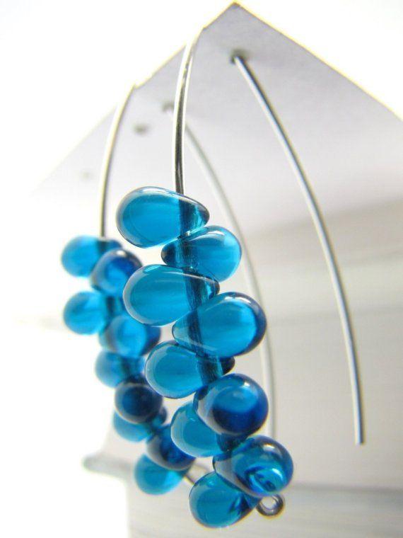 SALE  Modern Earrings  Sterling Silver Earrings  by LuzDesigns, $25.00