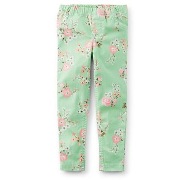 Floral Stretch Twill Jeggings ($18) | Kids Clothing Ideas