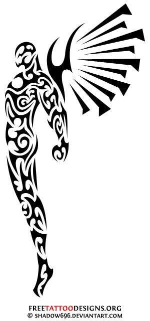 mymindlookslike tribal angel tattoo tattoos pinterest angel tattoo and tatoo. Black Bedroom Furniture Sets. Home Design Ideas