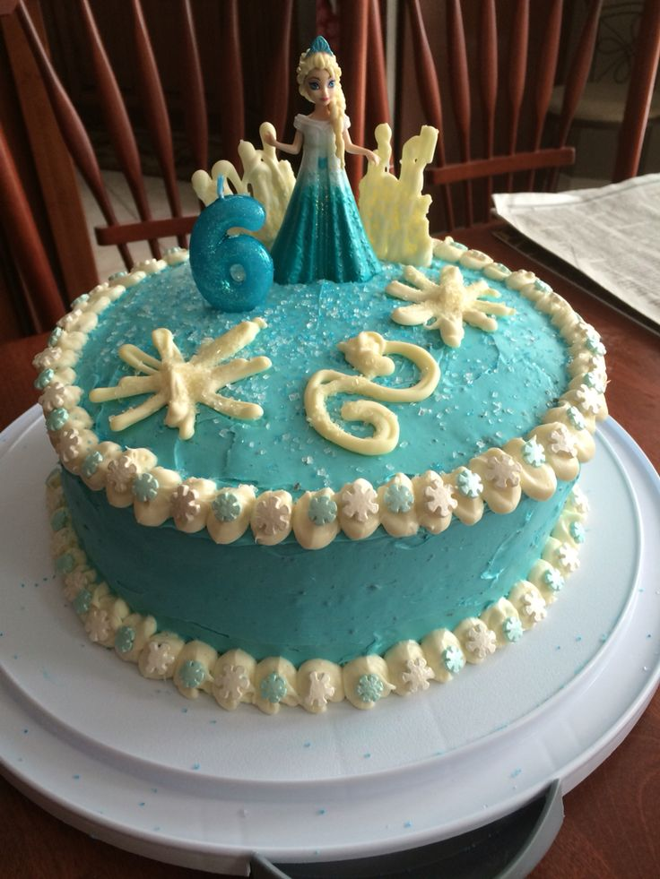 Frozen Elsa cake for my nieces 6th birthday