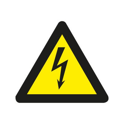 Fare. Elektrisk Strøm - Fareskilt