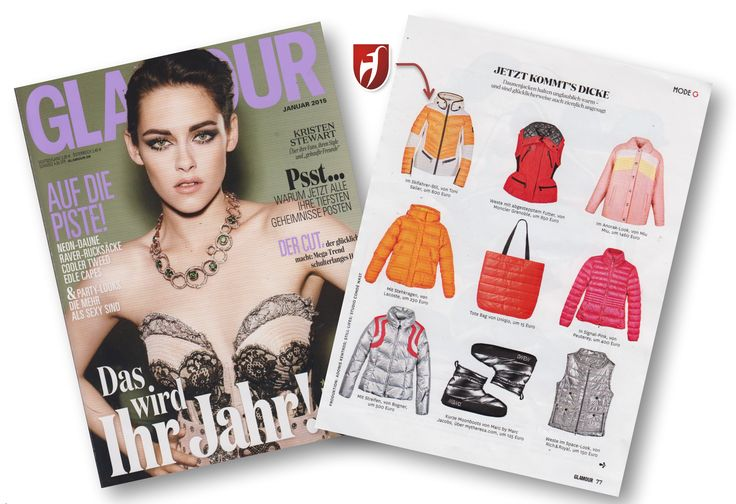 #tonisailer #skijacket Ginger in the German issue of #glamour.