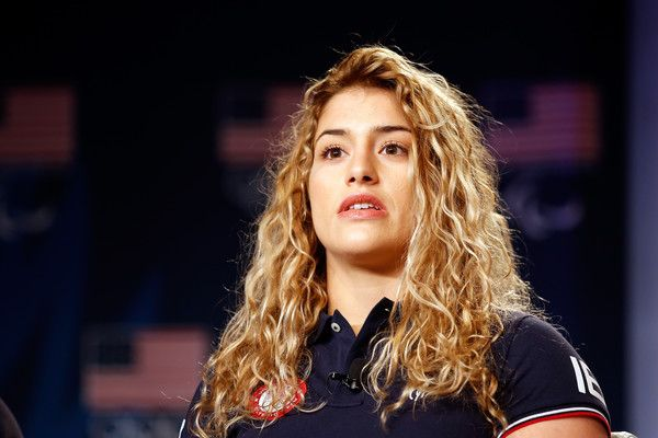 Helen Maroulis Photos - Wrestler Helen Maroulis addresses the media at the USOC Olympic Media Summit at The Beverly Hilton Hotel on March 9, 2016 in Beverly Hills, California. - 2016 Team USA Media Summit - Press Conferences