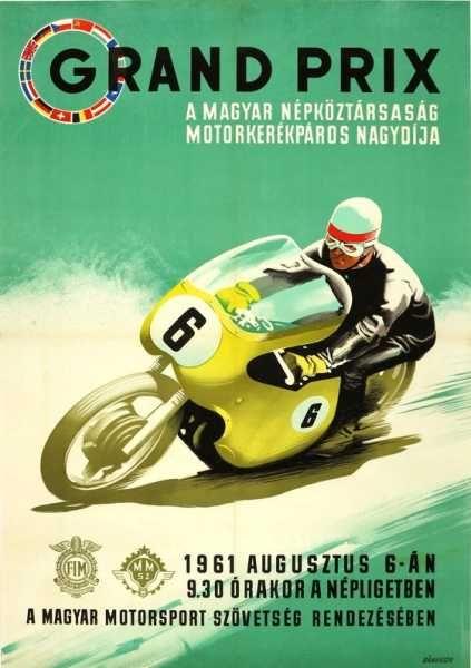 Grand Prix Magyar Népköztársaság motorkerékpáros nagydíja Népligetben 1961.