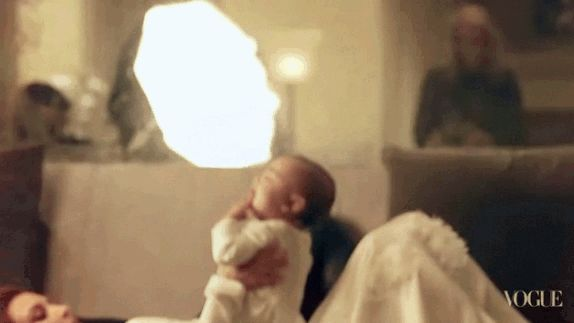 North West!!!!!!!! | 11 Moments Of Pure Love In KimYe's Vogue Photo Shoot