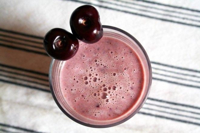 Cherry Almond Smoothie -- dark cherries, almond butter ...