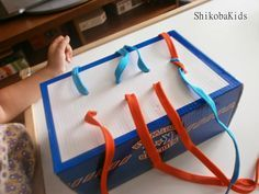 Tying Frame made on a shoe box!