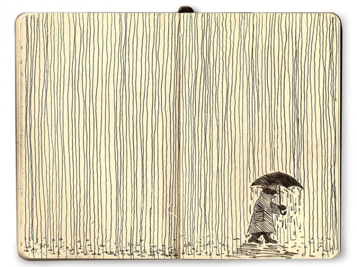 Mattias Mackler - Moleskine lines, Rain
