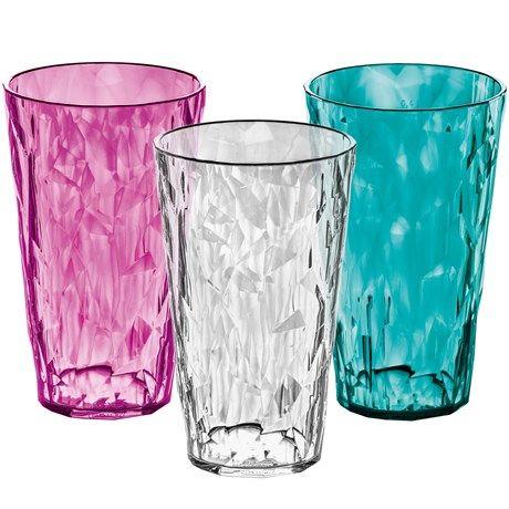 Høye plastglass i luksuriøs design!