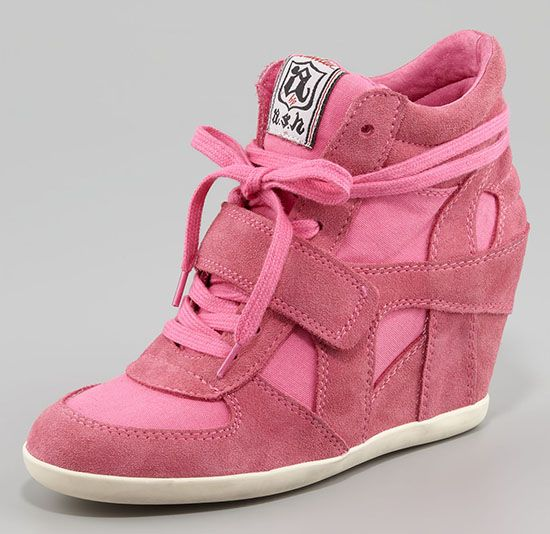 Ash Bowie Wedge Sneakers in Pink