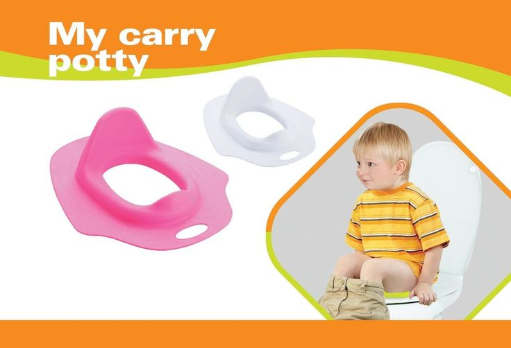 My Carry Potty Seat Kids Toilet Training Ring for Girls or boys Fits Securely for Bathroom. A hot pink potty seat design which is attractive to and often the favourite color of most little girls today,. A small seat which means that it is perfect for younger children who want and need the security and safety of a smaller seat while using the bigger lavatory,. Sanitary an easy to wipe clean environmentally friendly design where moms and dads alike can clean off the potty easily and without...