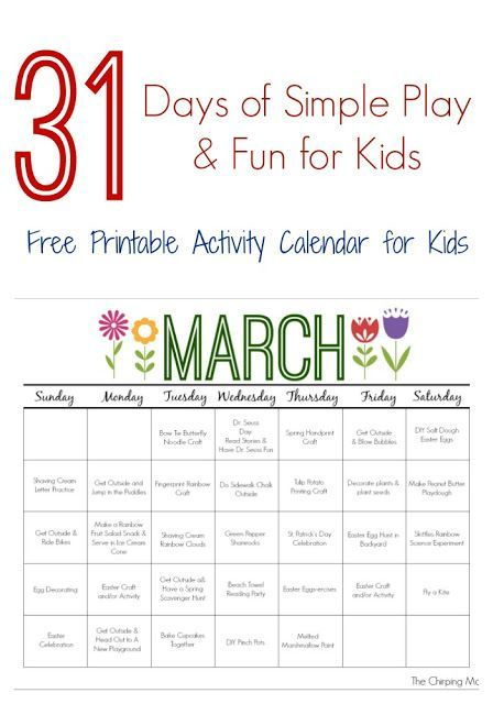 Calendar Ideas For March : March printable activity calendar for kids seasons
