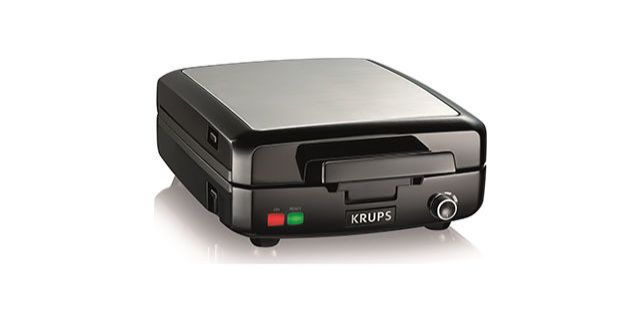 The Krups 4-Slice Belgian Waffle Maker wowed our experts with its impressive performance and super simple cleanup