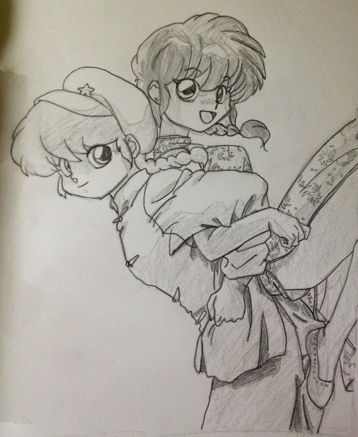 This is a picture that I have drawn when I was 10. And it is a drawing of Ranma as a girl, and a boy.