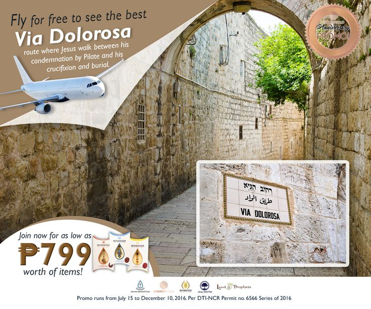 TRAVEL TO ISRAEL FOR FREE and visit the route where Jesus walks between his condemnation by Pilates and his crucifixion and burial. Simply join our promo to win an ALL EXPENSE PAID TRIP TO ISRAEL FOR TWO! Never miss this once in a lifetime opportunity! Visit our website https://journeyspiritualcraft.com for more detailed information.  #TravelPromo #IsraelPromo #HolyLandPromo #TriptoIsrael #FlytoIsrael #Jesus #Pilate