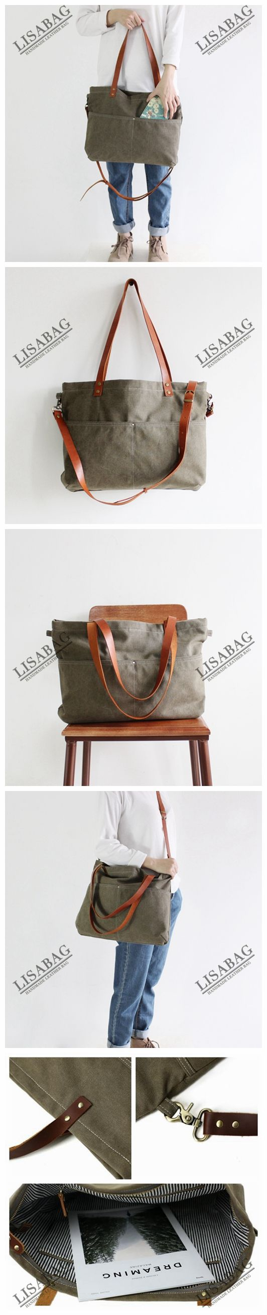 Handmade Canvas Tote Bag Messenger Bag Shopper Bag School Bag Handbag 14022--LISABAG
