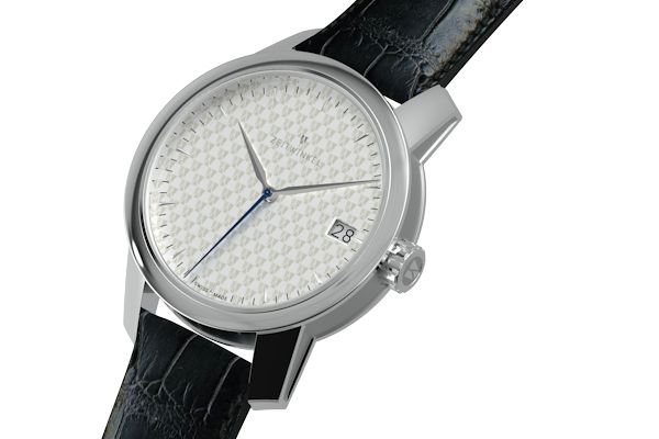 zeitwinkel 39.0 mm Midsize - the 083°: 3 hands and an easily read date display