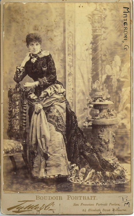 Tuttle & Co. Boudoir portrait of actress Giulia Majeroni, 1884 Australia (Melbourne), State Library of New South Wales
