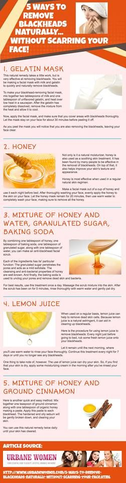 .how to get rid of blackheads