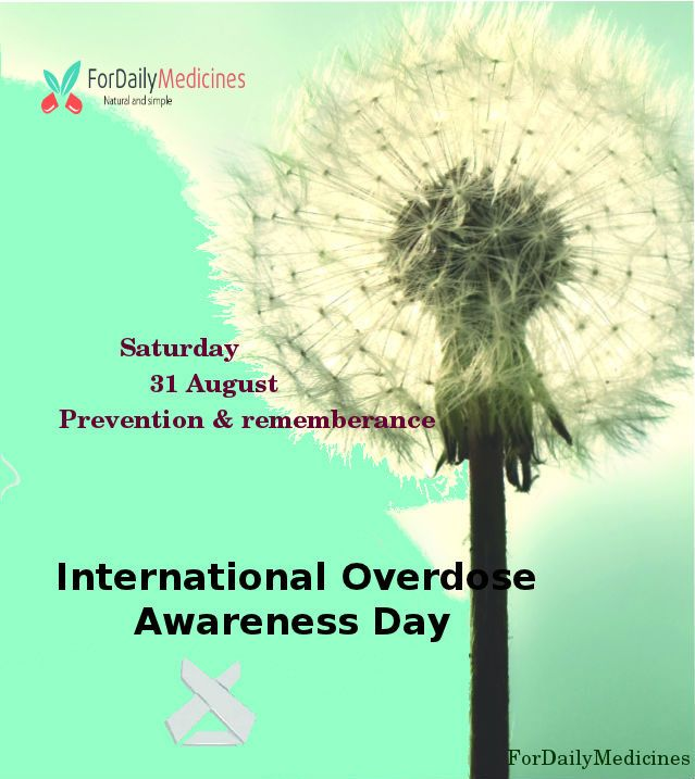 Overdose is preventable!  International Overdose Awareness Day is a #commemorative day, come under the umbrella which hope to decrease the harms associated with all drug for those who have died from drug overdose, or are living with a permanent injury after suffering from drug overdose.  http://www.fordailymedicines.com/
