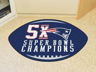 """NFL - New England Patriots 5X Super Bowl Champs Football Rug 20.5""""x32.5"""""""