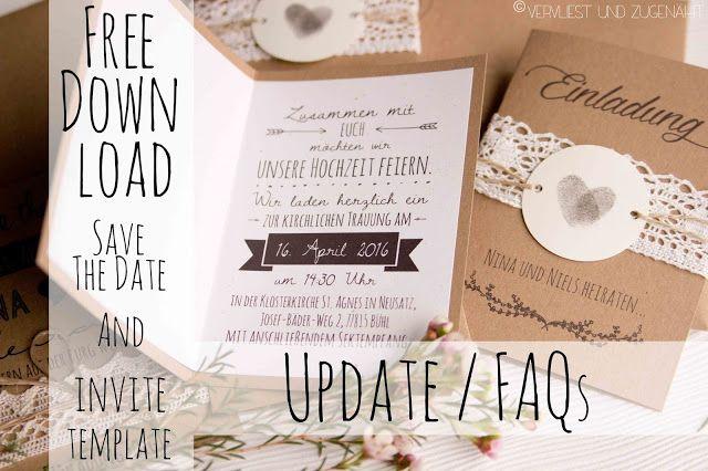 Hochzeit Einladungen Rustic Wedding Invitation Kraftpaper