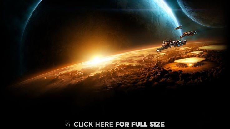Starcraft Planet Sun Earth Space wallpaper