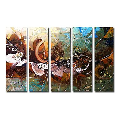 A Chaotic World Oil Painting - Set of 5 - Free Shipping