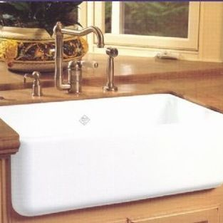 Rohl - Rohl Shaws Sinks RC3018 Original Fireclay Apron Sink - Original Fireclay Apron Sink