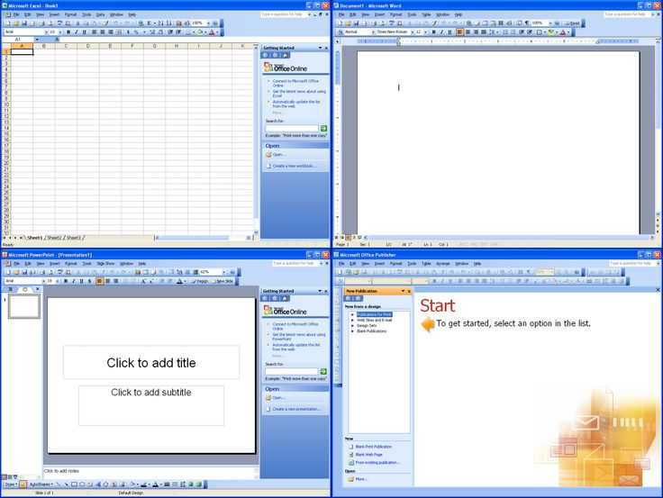 microsoft office 2003 products screenshots