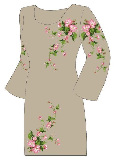 Серое платье ПлПс-007-1С