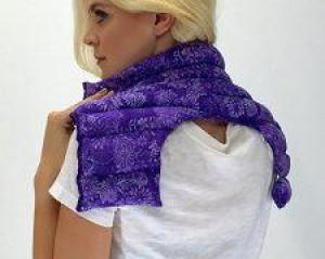 herbal heating pad purple