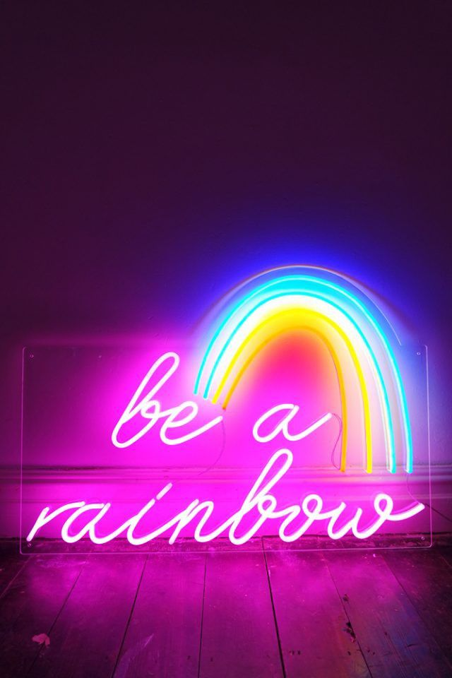 Rainbow Neon Light With Images Neon Signs Neon Wallpaper