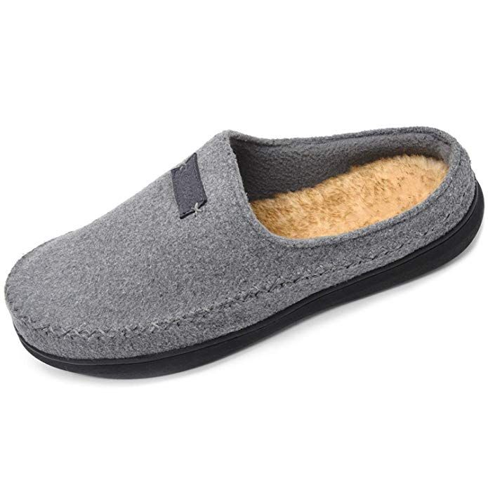 6737ffc367 Zigzagger Men's Wool Microsuede Moccasin Slippers Memory Foam Slip On  Clog House Shoes Indoor/Outdoor Review