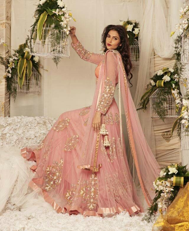 Love the colour and dress. Pakistani fashion. Wedding dress