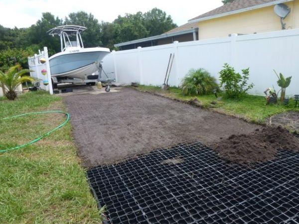 Kississmee, Florida U2013 Ground Reinforcement For Boat Parking