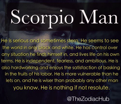Scorpio male traits dating