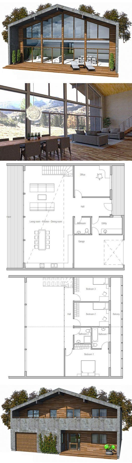 Modern House Design to narrow lot 16