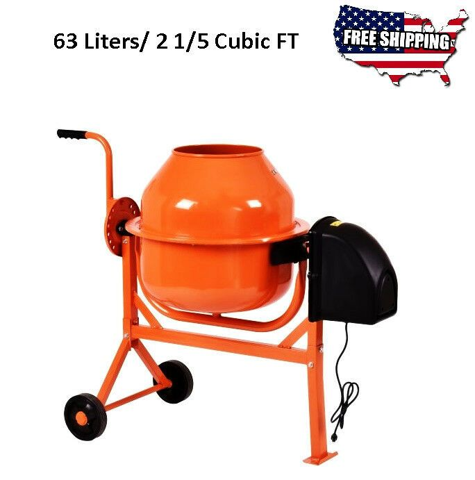 Electric Cement Mixer Machine Stucco Mortar Concrete Maker Bucket Drum Barrow 63 Unbranded In 2020 Cement Mixers Bucket Drumming Outdoor Door Mat