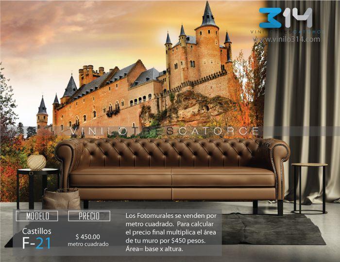 Fotomural-castillo-de-Hunyad-mural-tapiz-vinilo314-guadalajara-Mexico. Decoración de muros y superficies lisas.   www.vinilo314.com