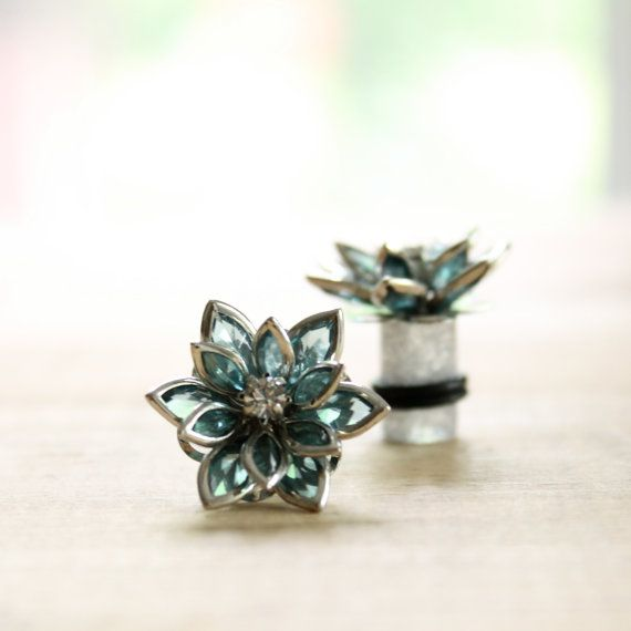 Flower Plugs Size 4g 2g 0g 00g and Up by somedaysoonjewelry