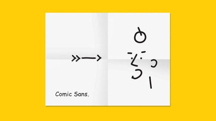 「Comic Sans.」 って、すでに結構かわいいフォントなんですけど、人型になってみたら、もっと愛嬌あるヤ […]