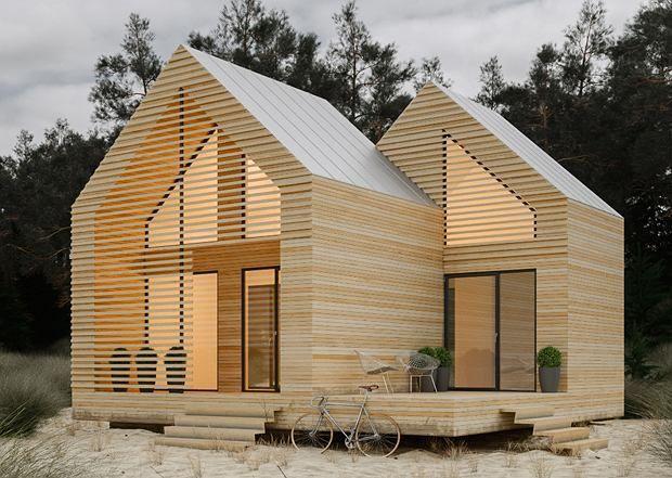 modern cabin, small house, small cabin
