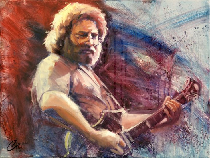 """""""Jerry Garcia"""" Limited Edition - The Incredible Art Gallery"""