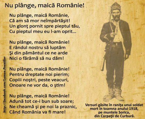 letter from dead soldier 1918 - romanian men dead soldier last words