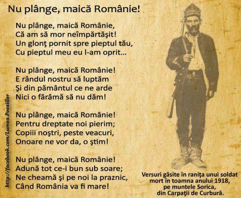 letter from dead soldier 1918 - romanian men dead soldier last words