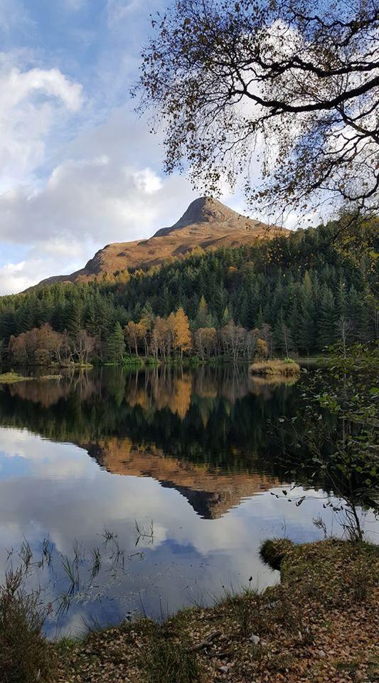 Glencoe Lochan on a clear day, Scotland.