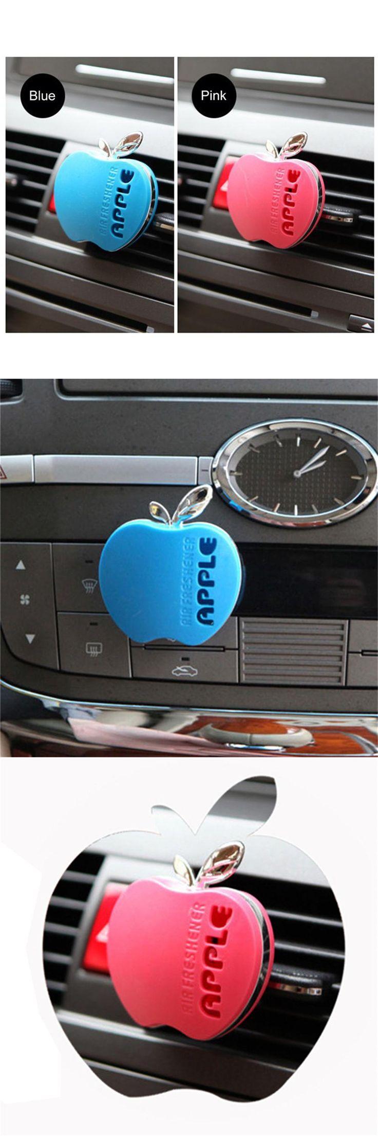 [Visit to Buy] Cute Apple Shape Car Air Conditioning Vent Perfume Air Freshener Cute Apple Car Perfume #Advertisement