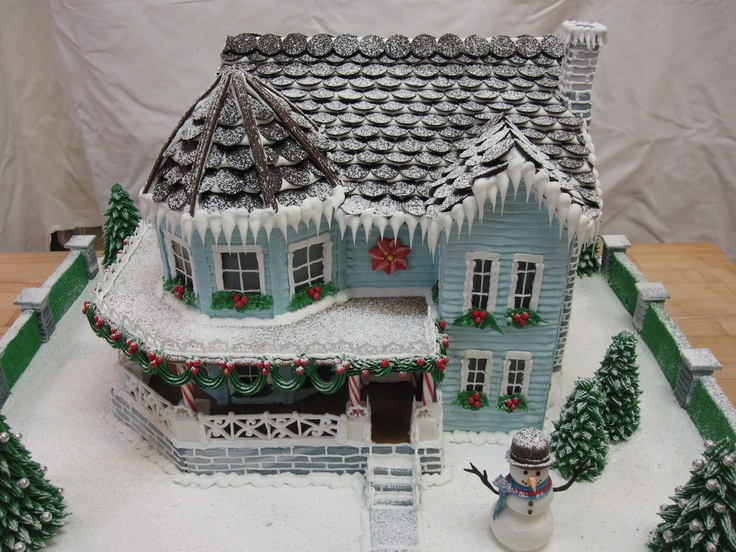 This website has elaborate gingerbread house templates to purchase. Gingerbread-By-Design: Ultimate Gingerbread Collection