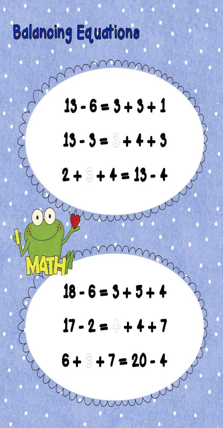 Balancing Equations Third Grade on Math Superstars Worksheets Answers